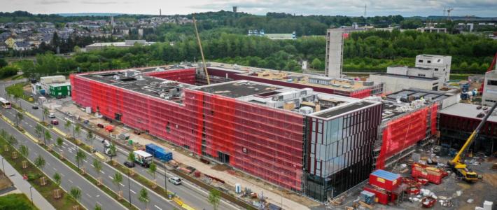 Le nouveau centre luxembourgeois d'incendie et de secours requiert une chape à haute résistance avec FloorWITT et ExcellFloor