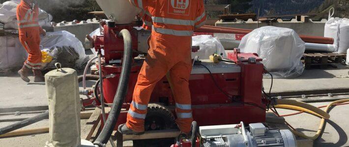 Ritom S.A. renouvelle la centrale hydroélectrique de Ritom (CH) avec la machine de projection voie sèche B1N de LDS Construct